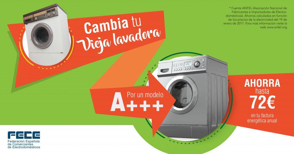 Cambia tu vieja lavadora y ahorra en la factura energética