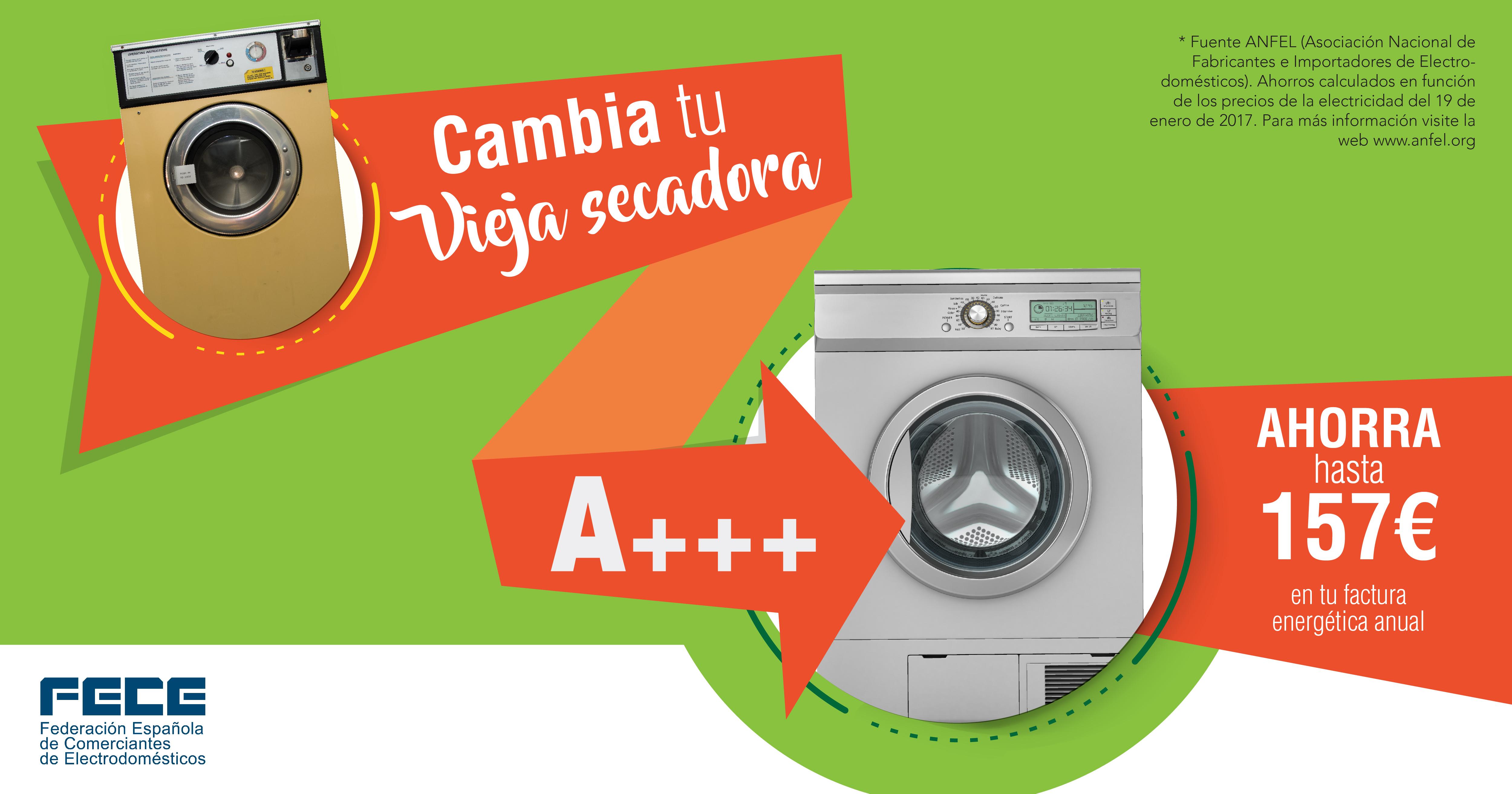Cambia tu vieja secadora y ahorra en la factura energética