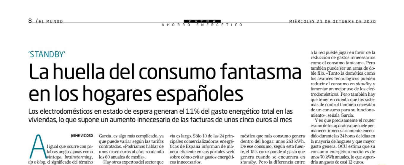 La huella del consumo fantasma en los hogares españoles