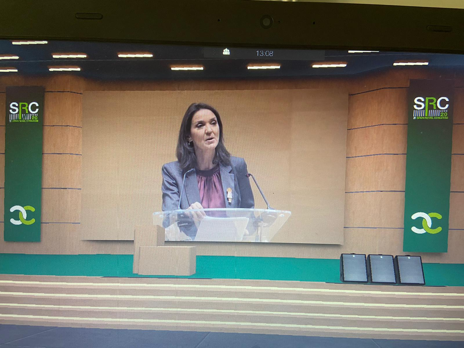 La Ministra Reyes Maroto en la clausura del Spain Retail Congress