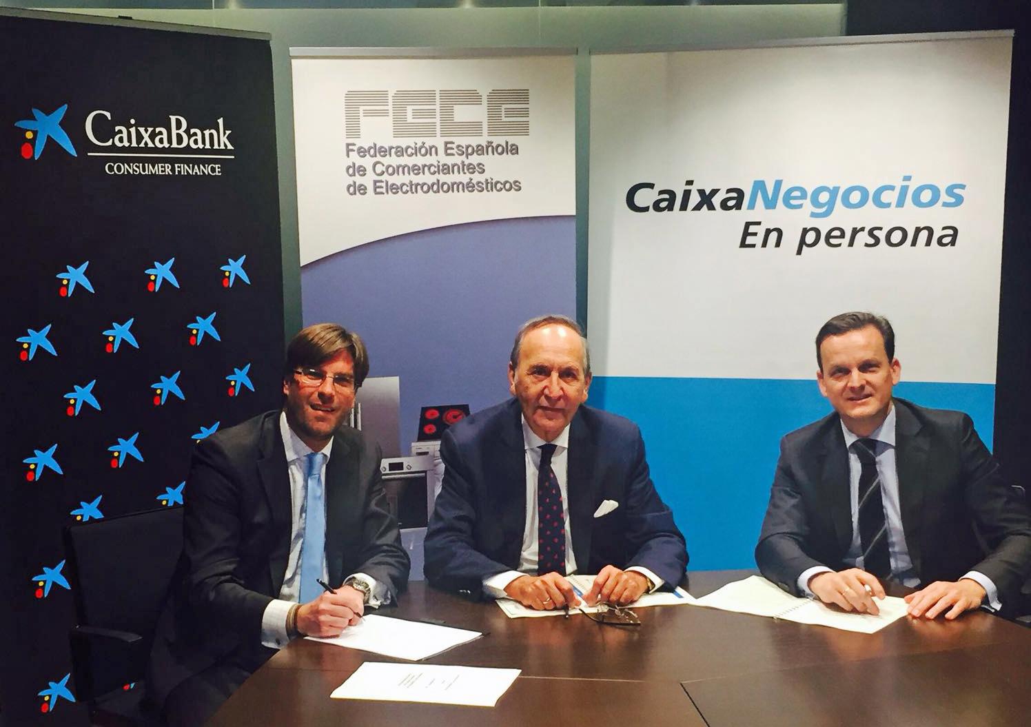 FECE y Caixabank, con el comercio de electrodomésticos