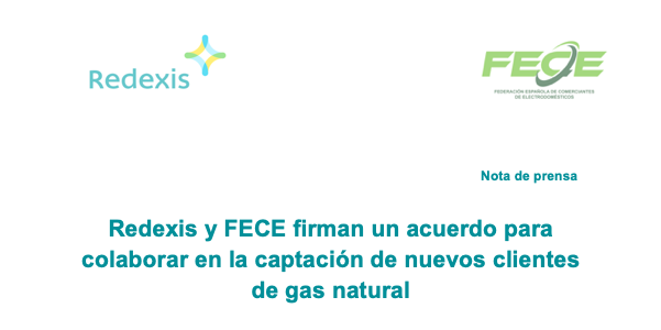 nota de prensa acuerdo FECE y Redexis